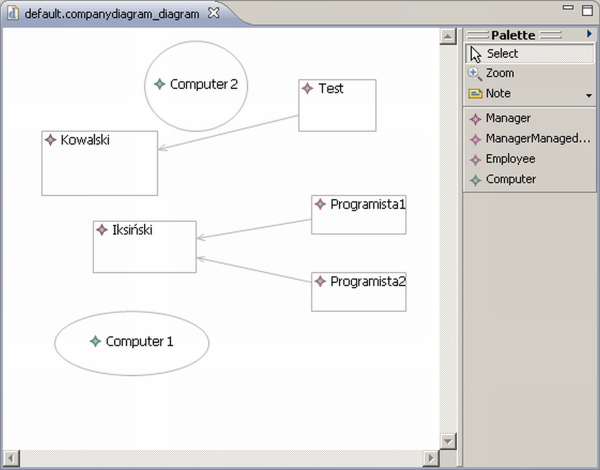 A screenshot showing the editor after changes